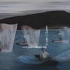 Pescadores nocturnos (oleo)