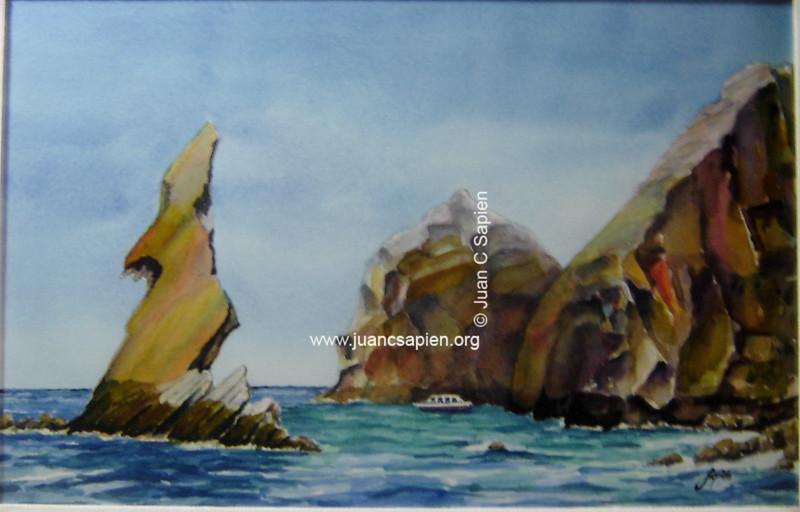 Mar con barco, Los Cabos, BCS