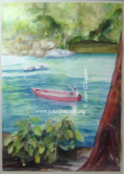 Lago con Lancha