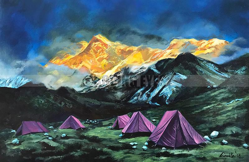Painted by Anukta Mukherjee Ghosh -- Acrylic  on Canvas
