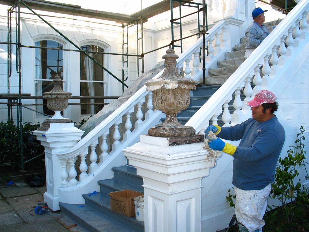 Restoration at the Casebolt Mansion (Pierce Street).