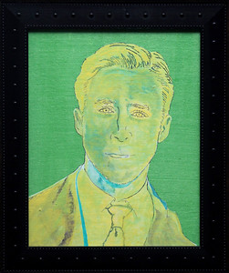"""Hey Girl""    13.5"" x 15.5"" {framed} - (acrylic, ink, paper on canvas board)"