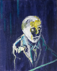 """Portrait of Meredith Frampton"" (2021)  acrylic on canvas board"
