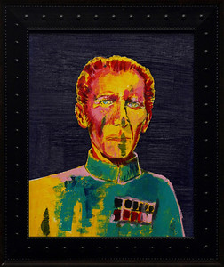 """Tarkin No. 58""  13.5"" x 15.5"" {framed} - (acrylic, ink, paper on canvas board)"
