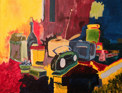 "from the archives:  ""Still Life Study - Kitchen 2002""   (acrylic on canvas)"