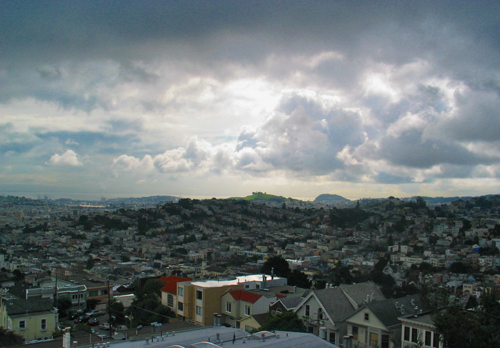 View out the backside of SF.