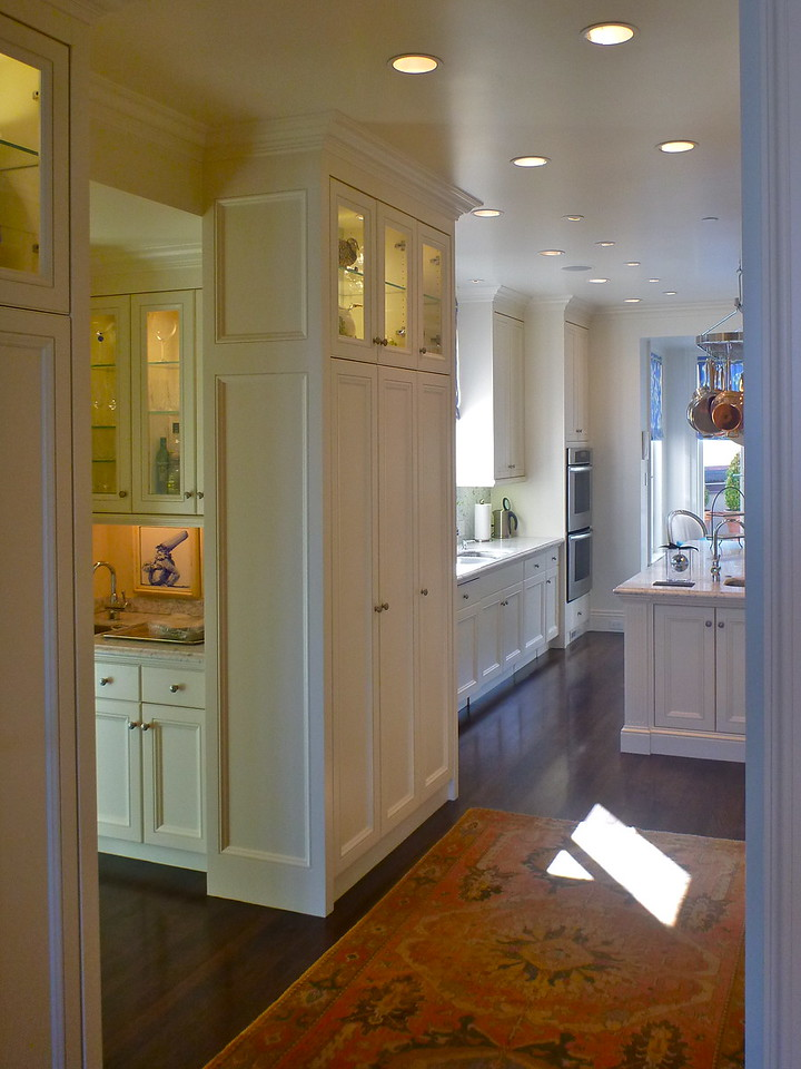 Pacific Avenue residence. Kitchen and Pantry, cabinetry.