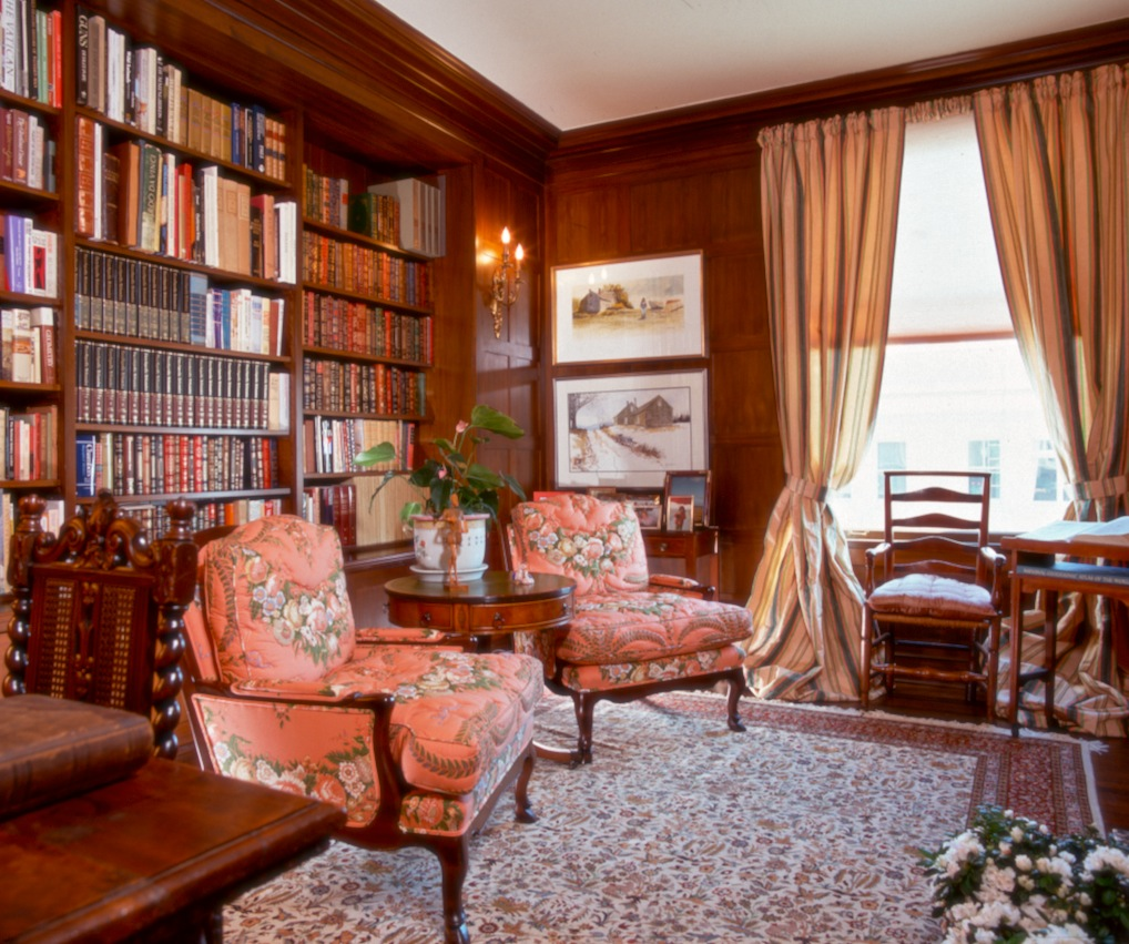 Library of Washington Street residence.