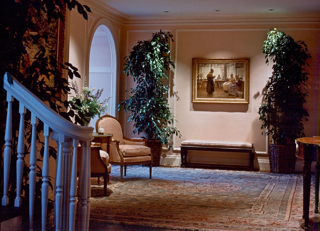 Foyer of Washington Street residence.