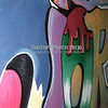 """Graffiti wall close-up"