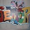 """Graffiti"" wall for local photography studio."