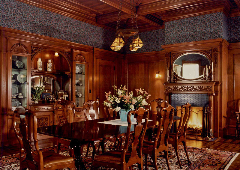 Alta Vista Plaza Residence. Oak dining room. Had been painted over. We stripped and refinished.