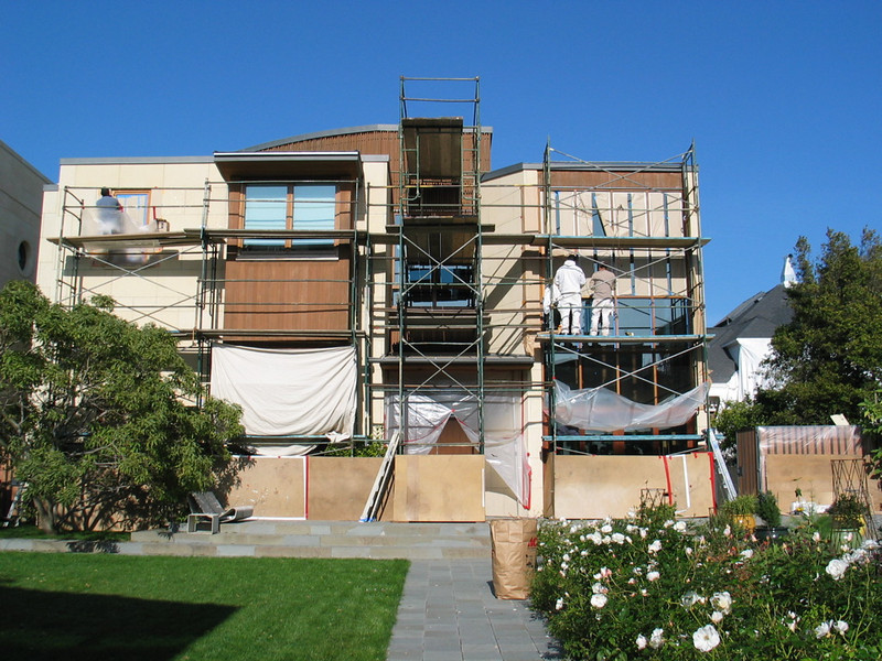 Broadway Street Residence, mahogany woodwork, being stripped.