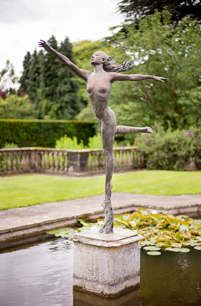 The Wood Nymph in Bronze by David William-Ellis - Newby Hall North Yorkshire UK 2017