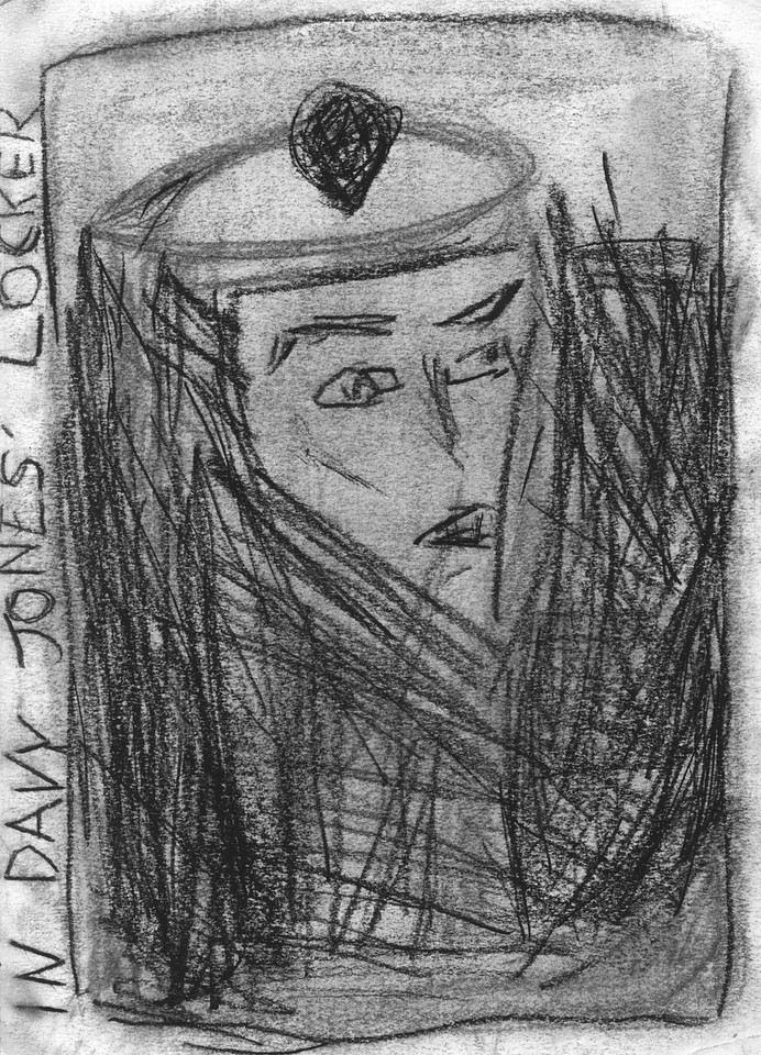 In Davy Jones' Locker, charcoal on paper, 2009
