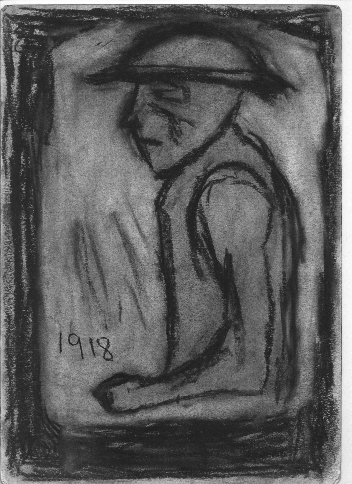 Doughboy 1918, charcoal on paper, 2009