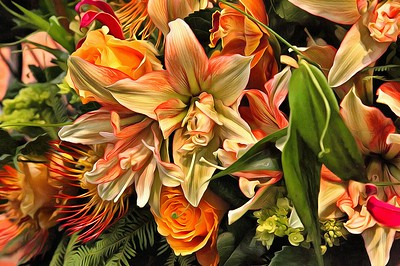 """Philadelphia Flower Show """"Paintings"""""""