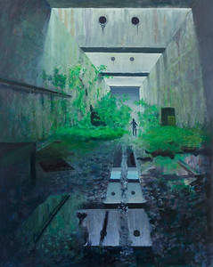08 Abandonned factory - 100x80cm acrylic painting on canvas