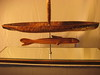 Between Worlds Series ~ PASSAGE<br /> Kamani, Koa, Cedar, Steel, Mirror<br /> H29 x W 8 x L 28  $3200.<br /> we are led by unseen forces (fish)