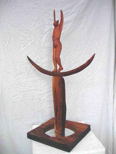Between Worlds Series No.3  REINCARNATION       .   <br /> Koa, Kamani, Red Cedar, Glass Mirror  2007<br /> <br /> 2500.
