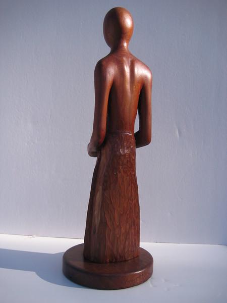 Meditation Series ~ QUIET HEART<br /> Red Cedar     back<br /> H 15 x W 5 x L 5<br /> $695.<br /> rough on bottom is emotion contained in meditation