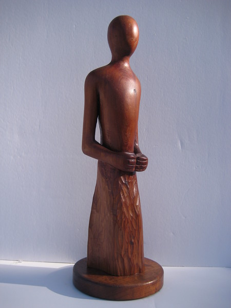 Meditation Series ~ QUIET HEART<br /> Red Cedar<br /> H 15 x W 5 x L 5<br /> $695