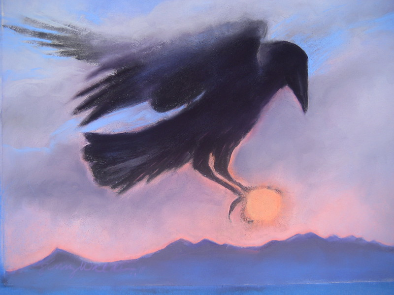 RAVEN SERIES ~ NO 4 RAVEN CATCHES THE SUN