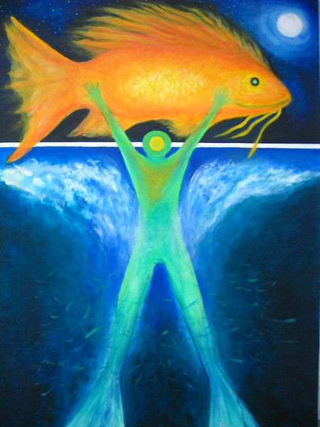 BEWTEEN WORLDS NO. 1  FINDING THE MAGIC FISH