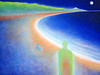 BETWEEN WORLDS SERIES ~ THE LONG WALK 36 x 48 acrylic on canvass giclee and inkjet prints available