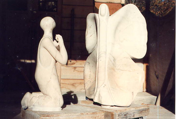 Do You Believe in Angels?<br /> Commission 1992<br /> Portuguese Marble<br /> $32,000.<br /> Site:<br /> The Museum of the Southwest<br /> Midland, Texas