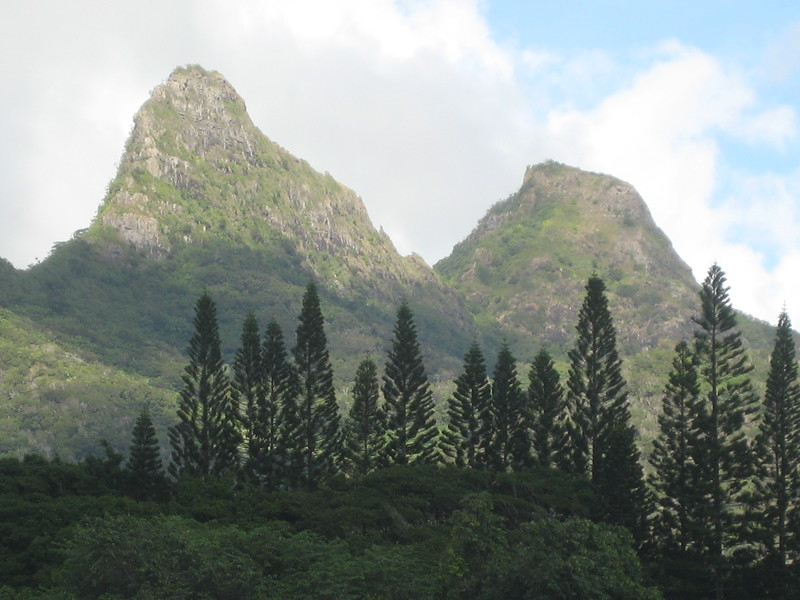 OLOMANA PEAK  view from Gallery lanai