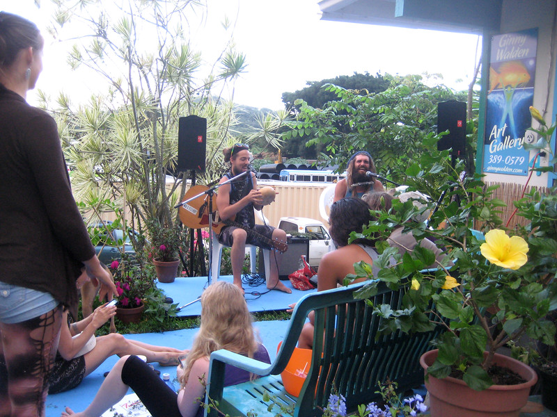 PAUL ISAAC and Michael perform Green Reggae with lots of peace and love at my Art Opening