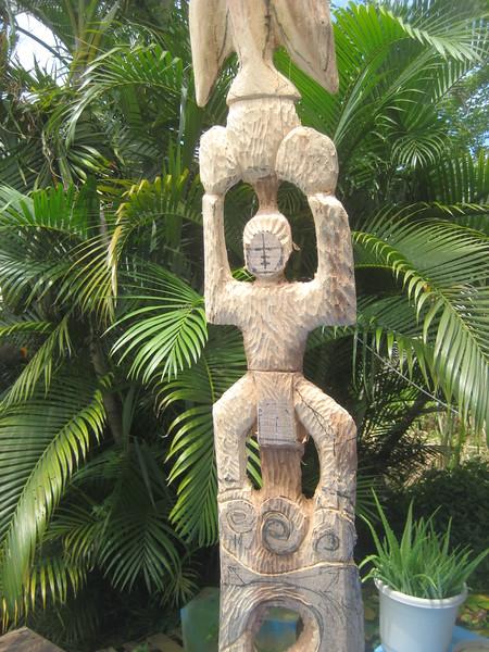 Environmental Totem No.1 Right Effort<br /> koa<br /> in progress