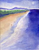 Beach Walk  watercolor: 11 x 14 2005