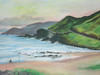Sandy Beach Blowhole, Oahu<br /> 9 x 12 original soft pastel<br /> drawn on site<br /> 2005<br /> $400 (SOLD)<br /> $25 8x10 matted print