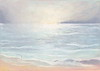 """Ocean Rain"" 2005 <br /> Original soft pastel: framed 11""x14"", image 5""x7"""