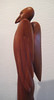 ALALA RAVEN WOMAN DREAMING 7 FEATHERS<br /> NM Red Cedar<br /> H15 x W7 x L7  NFS Artist Collection