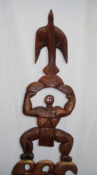 TOTEM NO.1 RIGHT EFFORT<br /> Hawaiian Koa  H32 x W9 x L8   $2500.