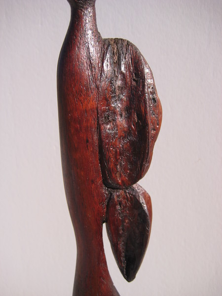 Shape Shifter Series ~ BUTTERFLY WOMAN<br /> Hawaiian Koa<br /> $695<br /> I use bark and rough natural parts of koa<br /> to create texture, feeling of emotion