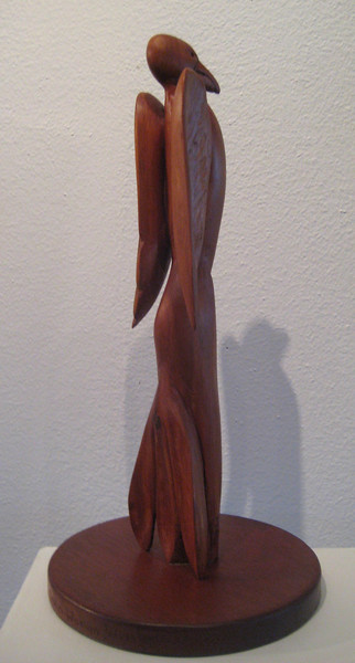 ALALA Raven Woman Dreaming 7 Feathers<br /> NM Red Cedar  H 15 x W7 x L 7 <br /> NFS   ARTIST COLLECTION<br /> Commission a Raven or any bird carving!
