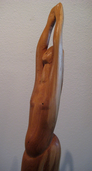 Moon Phase No 2 ~ FULL MOON<br /> NM Saltillo Cedar, Koa base<br /> H 19 x W 6.5 x L 6.5   $2100.
