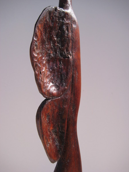 Shape Shifter Series ~ BUTTERFLY WOMAN<br /> Hawaiian Koa<br /> I use  bark and rough natural parts of koa<br /> to create texture, feeling of emotion