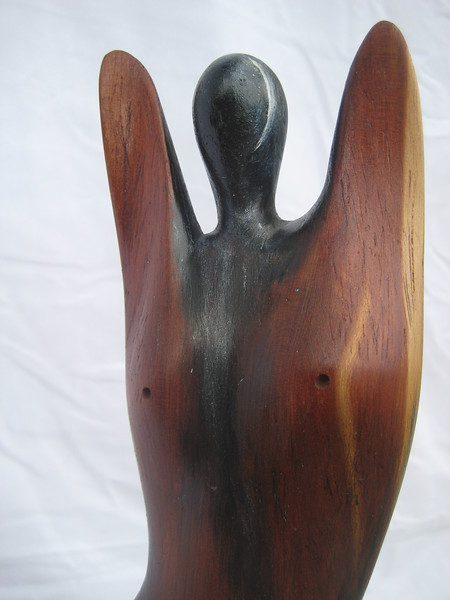 Moon Phases No. 1 ~ Promise of the New Moon<br /> Red Cedar   detail front top<br /> 2012<br /> $795<br /> SOLD!<br /> Commission a Moon Phase!