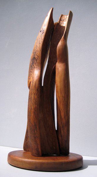 SOULMATES<br /> NM Saltillo Cedar $1100 SOLD!<br /> Feel the mystery within the spaces<br /> Soulmates are individuals yet together.<br /> Commission a Wedding or Celebration of Love sculpture!