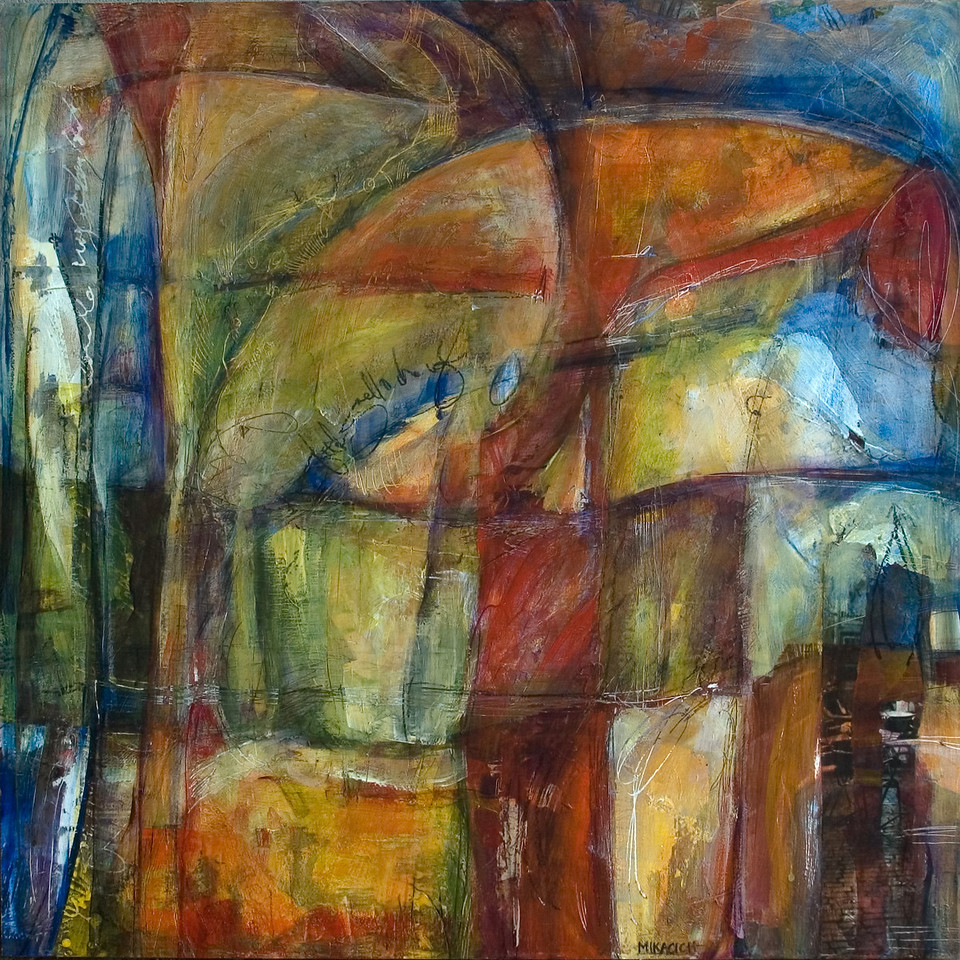 Aspettava, 24 x 24 inches, sold