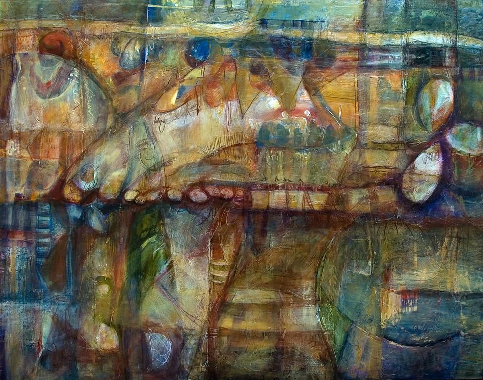 Tavola Sette, 60 x 48 inches, sold