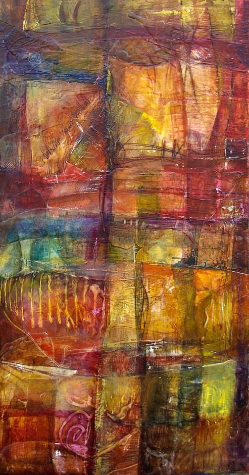 Cartographia Colorata, 36 x 18 inches, sold