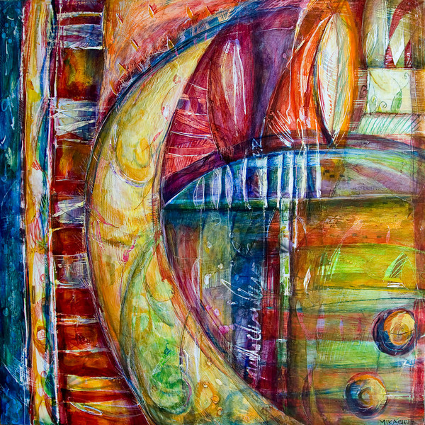 Al Chiaro di Luna, 24 x 24 inches, sold