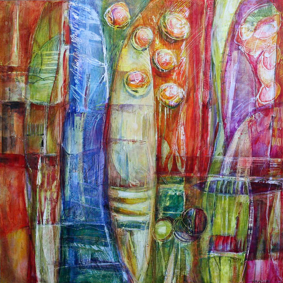 Mareado, 28 x 28 inches, sold