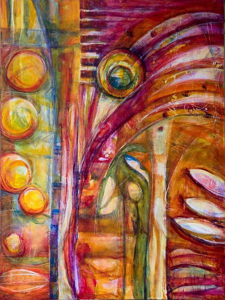 Facendo Fiori, 48 x 36 inches, sold